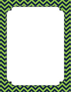 Navy & Lime Chevron Blank Chart #ChevronClassroom #TeacherCreatedResources