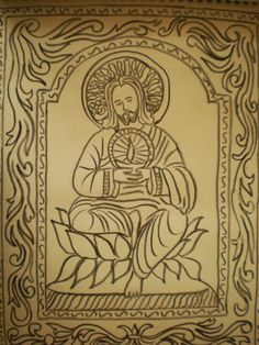 "Jesus: ""I am the light of the World."" Indian Christian Art by Brojoe Joseph"