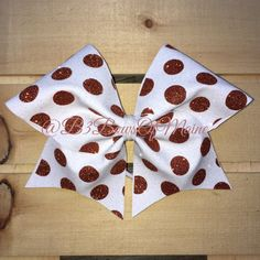 Full Sparkle Polka Dot Cheer Bow by B3BowsMaine on Etsy