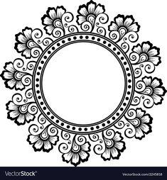 The best selection of royalty free floral & circles vector art, graphic Mandala Design, Mandala Art, Mandalas Drawing, Beautiful Rangoli Designs, Pottery Making, Design Art, Frame Download, Arabesque, Drawings
