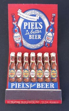 VINTAGE FEATURE MATCHBOOK - PIELS FINE BEER | Collectibles, Paper, Matchbooks | eBay!