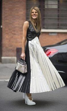 AdR & that Proenza Schouler skirt. Paris. #AnnaDelloRusso