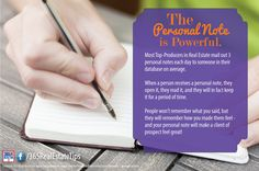 Most Top-Producers in Real Estate mail out 3 personal notes each day to someone in their database on average.    Have you kept up with personally reaching out to leads?