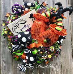 Witch Wreath by Holiday Baubles