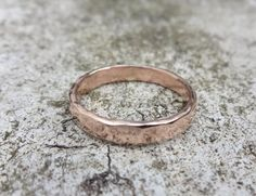 Red Gold Female Wedding Band 9 carat by NaturalJewellery on Etsy, £160.00. Everyday wedding band. You know you gotta wash dishes and work and stuff.......