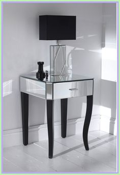 wood nightstand with glass top-#wood #nightstand #with #glass #top Please Click Link To Find More Reference,,, ENJOY!! Mirror Bedside Table, Mirrored Coffee Tables, Rustic Nightstand, Mirrored Nightstand, Nightstands, Table Lamps, Side Tables Bedroom, Living Room End Tables, Dining Rooms