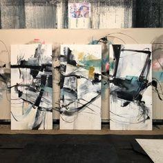 """vicky barranguet 'Summer Breeze' triptych 66x96"""""""