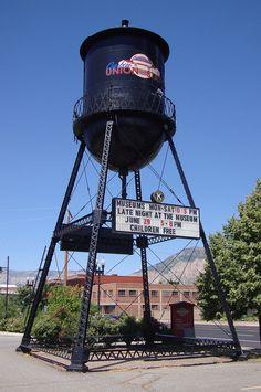 Ogden, Utah - water tower in front of the old Ogden Union Station