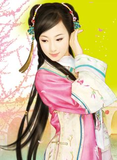 chinese art, Love that clean and bright color artwork!