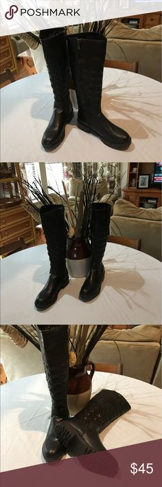 Women's Boots New w/o tags Never worn boots in excellent condition. Synthetic leather to be clear. The pic makes them appear to be almost black, they are actually dark brown. Wanted Shoes Combat & Moto Boots