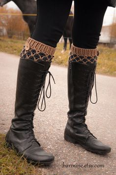 Crochet Boot Cuffs Faux Leg Warmers