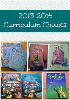 2013-2014 Curriculum Choices