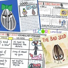 Teach upper elementary students how to overcome problems with these engaging activities for The Bad Seed by Jory John