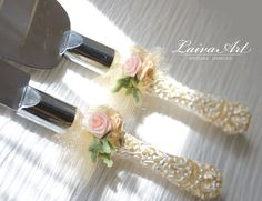 Cake Serving Set Ivory Wedding Cake Cutting Set Wedding Cake Knife Set Wedding Cake Servers Wedding Cake Cutter Cake Decoration - pinned by pin4etsy.com