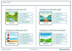 Ficha de cambio de unidades de longitud para Primaria