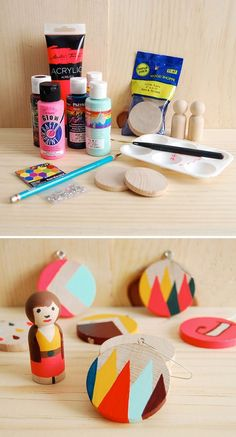 Easy Painted Ornaments | 51 Hopelessly Adorable DIY Christmas Decorations