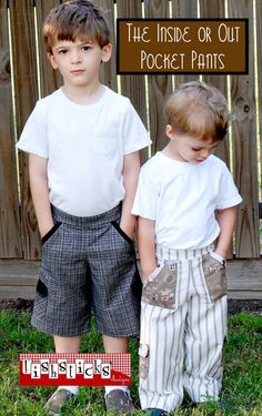 The Inside or Out Pocket Pants / Infant & Toddler Sizes | Fishsticks Designs - Paid Pattern