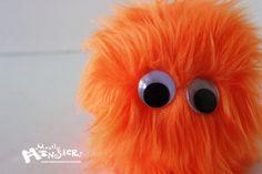 Small Fuzzy Monster Toy Fuzzball Fuzzie by MostlyMonstersCV