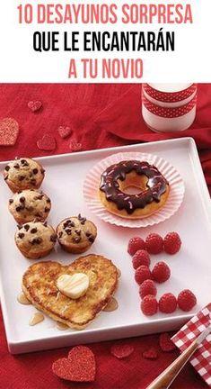 Si se acerca tu aniversario, 14 de febrero o simplemente deseas darle una sorpresa original a tu novio, te dejo estas 10 ideas de desayunos sorpresa que le encantarán. Conquístalo desde la pancita, te aseguro que ningún hombre se puede resistir a estos deliciosos detalles.