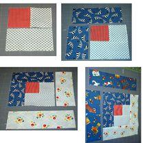 Template Free Log Cabin Quilt Block Pattern