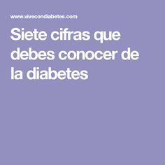 Siete cifras que debes conocer de la diabetes