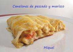 Les receptes del Miquel: Canelones de pescado y marisco
