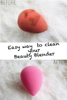 Cleaning your make up brushes and sponges is essential . Though beauty blender's cleanser works great, it's expensive. Luckily, there are plenty of other ways to make it happen.What's a beauty blender? These nifty little sponges are shaped like eggs, and are pretty much essential for successful foundation contouring . 000