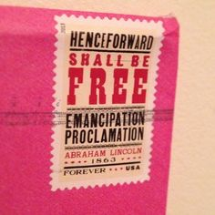 Such a wonderful stamp with a powerful message, and it looks great on envelopes!