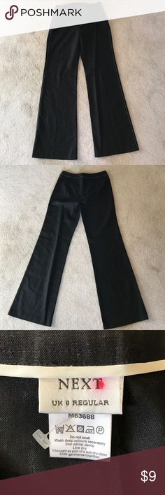 NEXT black pants U.K. 8 reg US 4 NEXT black pants U.K. 8 reg US 4 Next Pants Boot Cut & Flare