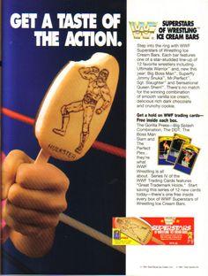 WWF ice cream bars! Pro Wrestling
