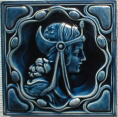 Art nouveau - West side art tiles, Germany