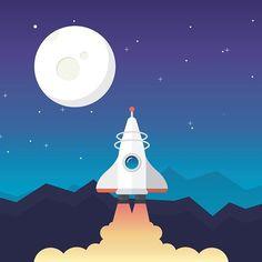 Rocket #ui #userinterface #design #uidesign #app #appdesign #rocket #vector #vectorart #inspiration #ux #userexperience #graphic #flat #flatdesign #uinspiation #illustration #illustrator
