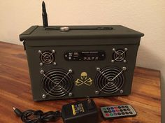 Ammo Can Rechargeable Stereo Boombox V.2  Green