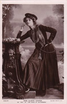British Actress Dame Gladys Cooper in Theatrical Costume by Bassano...circa 1908 by decorables on Etsy