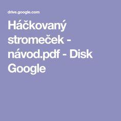 Háčkovaný stromeček - návod.pdf - Disk Google
