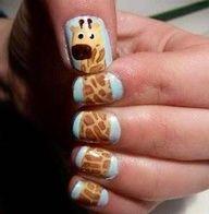 Awesome nail design idea for teacher, kids RN, or a fun mom!