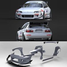 #mulpix The new Pandem Eg Honda Civic kit. Showing the whole kit in pieces. We…