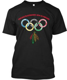 Represent your Chicago Blackhawks in this version of the 2014 Winter Olympics shirt featuring the players names in the rings. Blackhawks Hockey, Chicago Blackhawks, Winter Olympics, Olympians, Scores, Custom Clothes, Nhl, Chelsea, Rest
