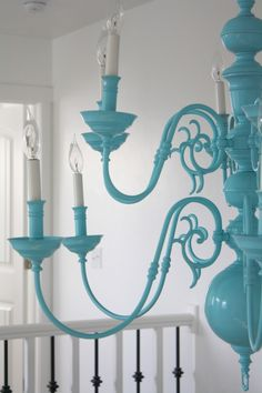 refinish an old $30 chandelier into this beauty!