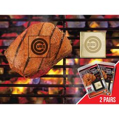 Chicago Cubs Fan Brands Grill Logo(2 Pack)