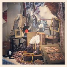 #collegeassignment #display #windowdisplay #shoes #viviennewestwood #attic #platfirms #tartan #diy