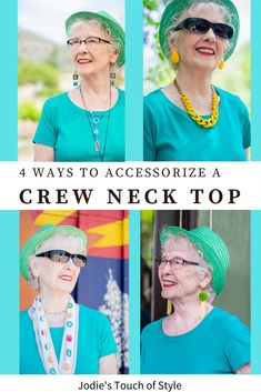 4 ways to accessorize a crew neck top