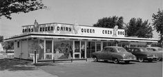 Cozy Dog Drive-In on 6th Street 1950's. Springfield Illinois