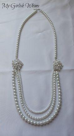 Elegant Pearl Wedding Necklace DIY with David Tutera Bridal   My Girlish Whims