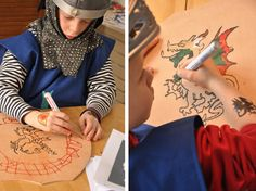A Knights' Party- great ideas from making their own shields to party games