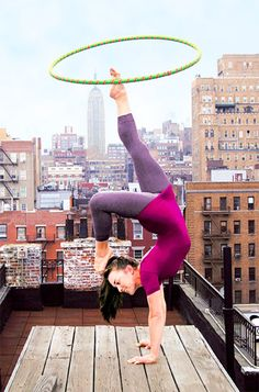 Hooping during a yoga pose?!?!?  my hero!!!