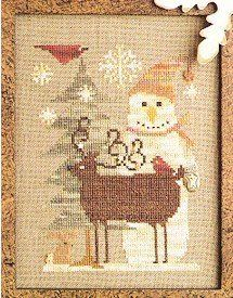 """From Homespun Elegance is this cross stitch pattern titled """"Winter Gathering"""" and is stitched with Wildflower Fiesta, Weeks Dye Works (India..."""
