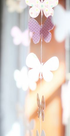 Simple Butterfly Garland, fun for spring.