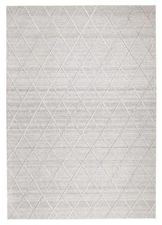 Vienna 2351 Hand Loomed Silver Grey Patterned Wool and Viscose Modern Rug Braided Wool Rug, Woven Rug, Cheap Rugs, Floral Rug, Tribal Rug, Diamond Pattern, Modern Rugs, Floor Rugs, Loom
