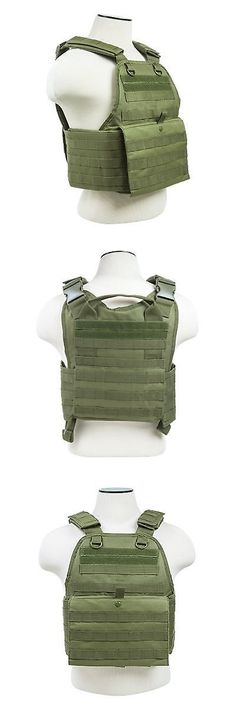 Chest Rigs and Tactical Vests 177891  Vism By Ncstar Plate Carrier Vest  Green -  3a3c927a8c5